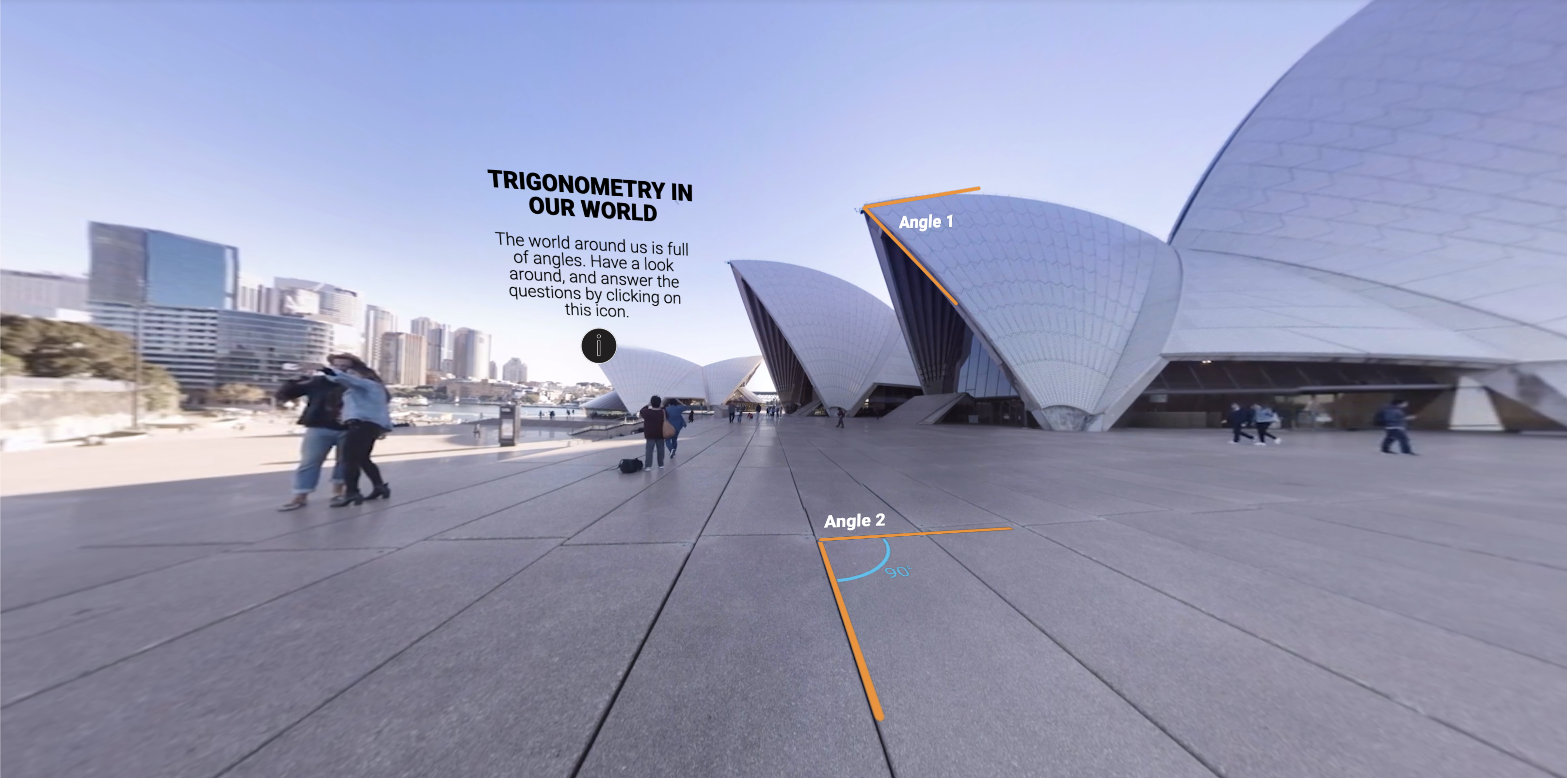 Trigonometry in immersive reality.